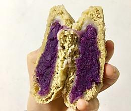 无油无糖 全麦麻薯紫薯包的做法