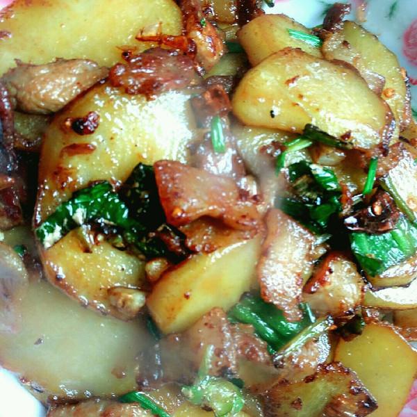 香辣土豆肉片的做法