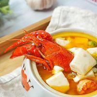 蒜香龙虾豆腐羹的做法图解10
