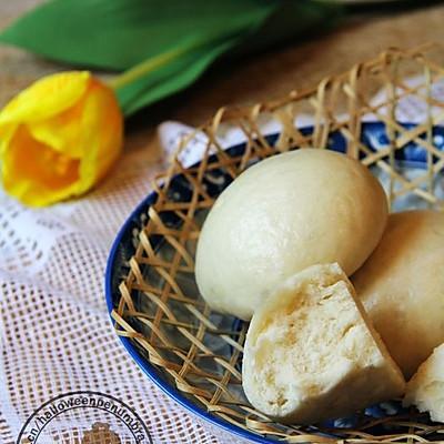 无添加酵母の【古法白馒头】神奇的自然发酵。
