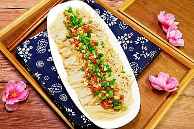 剁椒蒜蓉金针菇(自制剁椒)