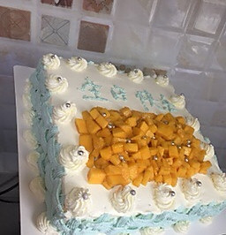 12寸烫面糊蛋糕