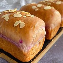 #助力高考营养餐#紫薯蜜豆小吐司