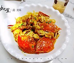 #巨下饭的家常菜#咖喱年糕炒梭子蟹的做法