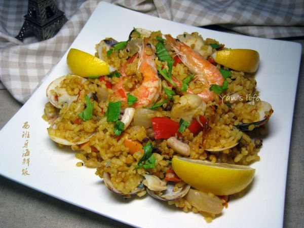 西班牙海鲜饭——利仁电火锅试用菜谱的做法