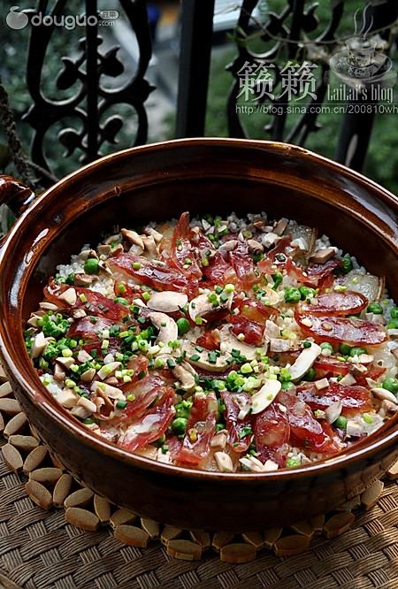 腊味沙锅饭的做法