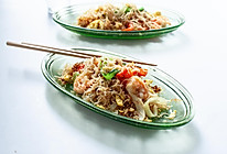 越南鸡蛋虾仁炒米粉、炒粉的做法