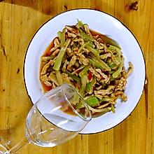 川版莴笋肉片、莴笋肉丝、莴笋炒肉