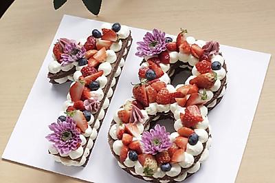 数字蛋糕模具运用