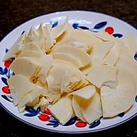 春天的味道-豌豆蘑菇炒春笋的做法图解3