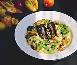 青口蔬菜意面的做法