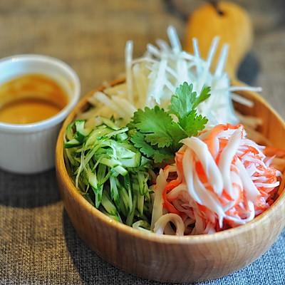 想方设法也要让你夏天胃口大开-超~提劲儿芥末三色沙拉