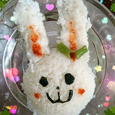 卡通饭团  小兔子