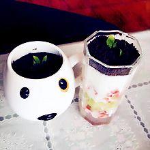 甜品……低热量水果酸奶盆栽