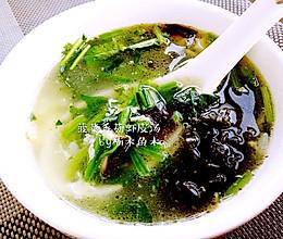 香菇菠菜虾皮汤的做法