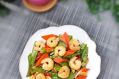虾仁蒜香荷兰豆(可以带着去玩的美食)