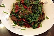 辣椒芫爆牛肉的做法