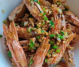 蒜香椒盐酥虾头的做法