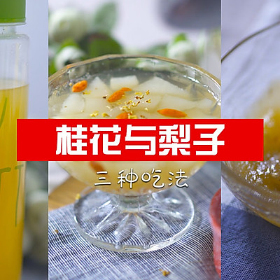 适合秋季的桂花与梨的三种吃法