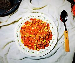 #合理膳食 营养健康进家庭#午餐肉胡萝卜玉米粒的做法