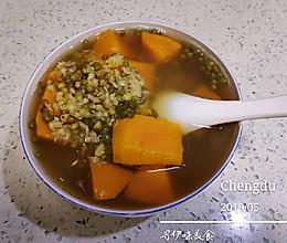 #做道懒人菜,轻松享假期#绿豆南瓜汤的做法