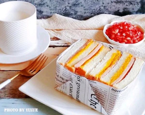咸蛋黄南瓜午餐肉三明治的做法