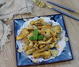黑椒#一起加油,我要做A+健康宝贝#炸蘑菇的做法