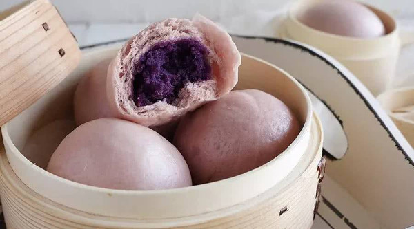 ★奶香紫薯包★的做法