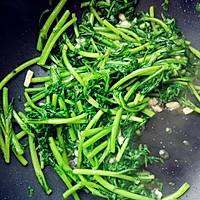 蒜炒茼蒿的做法图解4