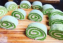 菠菜小花卷的做法
