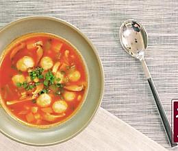 番茄鱼丸浓汤的做法
