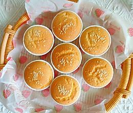 新手也能做的超好吃奶香浓郁海绵纸杯蛋糕的做法