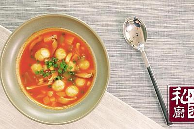 番茄鱼丸浓汤