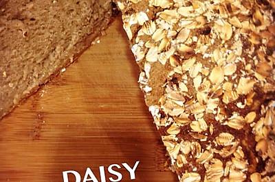 【❤保罗教你做面包】三麦面包 麦香包(黑麦面粉燕麦片麦芽酒)