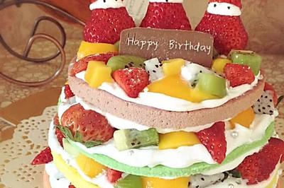彩虹Rainbow裸蛋糕