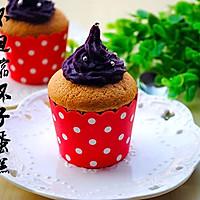 不回缩杯子蛋糕——紫薯泥版的做法图解10