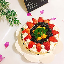 #精品菜谱挑战赛#鲜果裸蛋糕(最简易的奶油水果蛋糕)