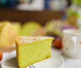 松软可口的纯天然色素菠菜戚风蛋糕的做法