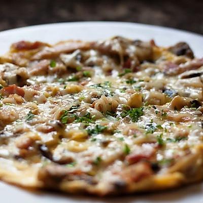 曼步厨房 - 培根蘑菇早餐蛋饼