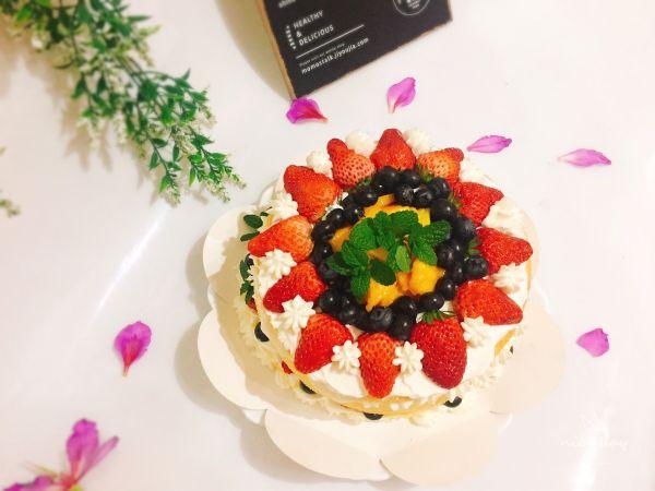 #精品菜谱挑战赛#鲜果裸蛋糕(最简易的奶油水果蛋糕)的做法