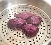 紫薯芝麻饼的做法图解1