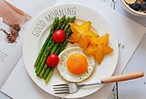 白灼芦笋+燕麦粥+煎蛋—早餐的做法