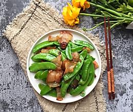 香辣腊肉炒荷兰豆#精品菜谱挑战赛#
