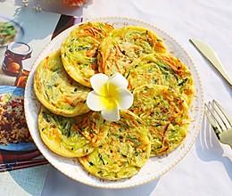 香煎南瓜丝鸡蛋饼的做法