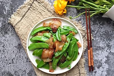 香辣腊肉炒荷兰豆