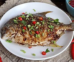砂锅烤金鲳鱼的做法