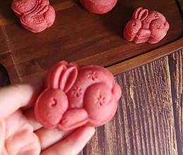 草莓味月饼,中秋节一起吃兔兔的做法