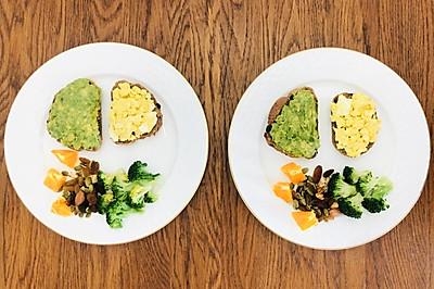 懒人早餐:开放三明治