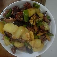 土豆炒腊肠