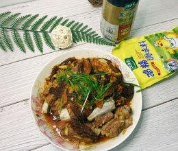 #入秋滋补正当时#香焖排骨羊肚菌的做法